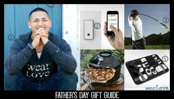 wear Love® Father's Day Gift Guide #giftsfordad #wearlove #pizzagrill #golfswing #organizer #lightswitch